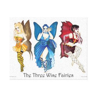 The Three Wise Fairies Canvas Print