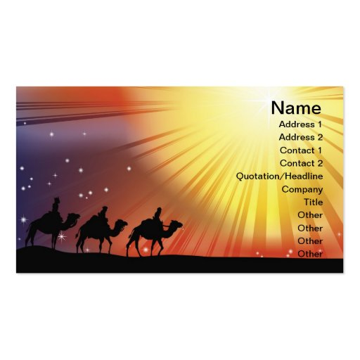 The three wise men business card