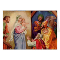 The three wise men greeting cards