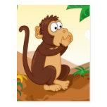 The three wise monkeys postcards