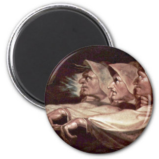 The Three Witches English - The Weird Sisters Or T 2 Inch Round Magnet