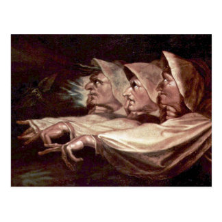 The Three Witches English - The Weird Sisters Or T Postcard