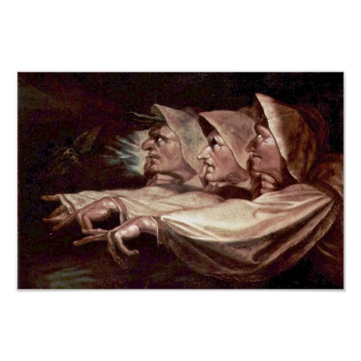 The Three Witches English - The Weird Sisters Or T Print