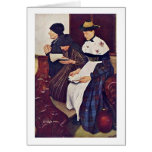 The Three Women In The Church By Wilhelm Leibl Greeting Card