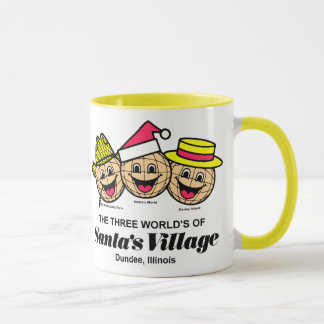 The Three Worlds of Santa's Village, Dundee, IL Mug