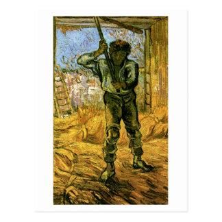 The Thresher (after Millet), Vincent van Gogh Post Card
