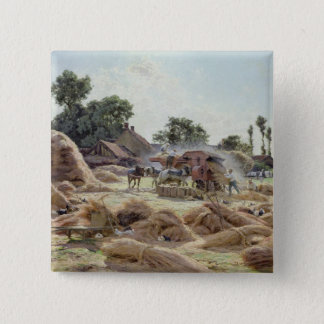 The Threshing Machine  1896 Pinback Button