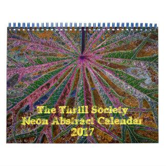 The Thrill Society 2017 Neon Abstract Calendar