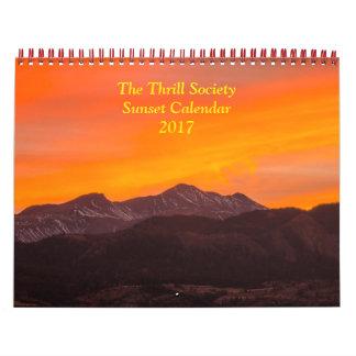 The Thrill Society 2017 Sunset Calendar