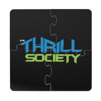 The Thrill Society Logo Puzzle Coaster