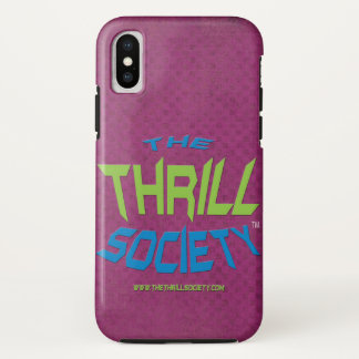 The Thrill Society Logo Squeezed Design iPhone X Case