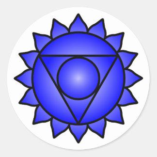 The Throat Chakra Classic Round Sticker