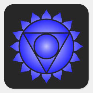 The Throat Chakra Square Sticker