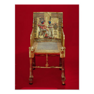 The throne, from the Tomb of Tutankhamun Print