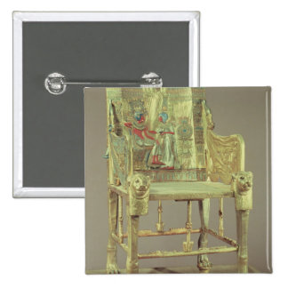 The throne of Tutankhamun  New Kingdom 2 Inch Square Button