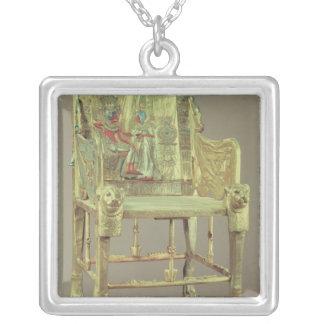 The throne of Tutankhamun  New Kingdom Square Pendant Necklace