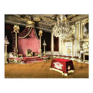 The throne room, Fontainebleau Palace, France clas Postcard