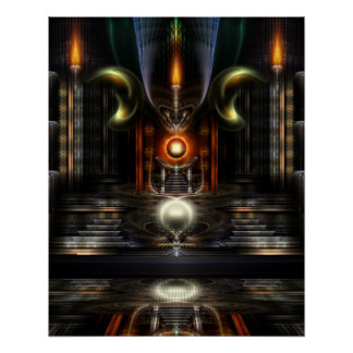 The Throne Room Fractal Art Perfect Poster
