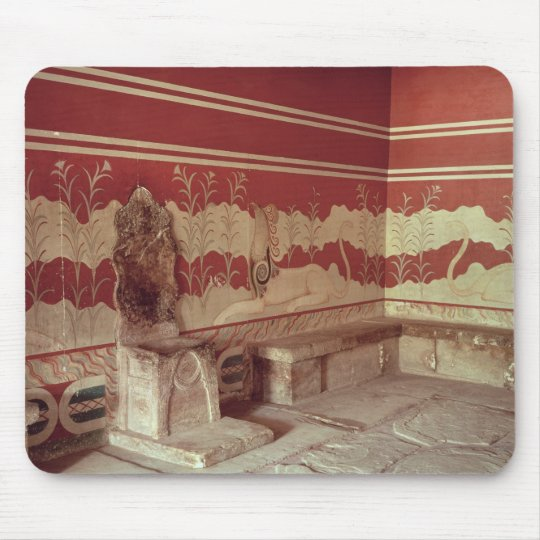The Throne Room of Minos, 1500-1400 BC Mouse Pad