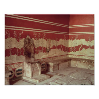 The Throne Room of Minos, 1500-1400 BC Poster