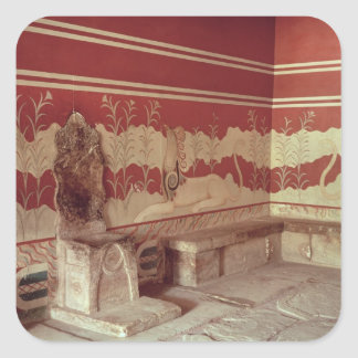 The Throne Room of Minos, 1500-1400 BC Square Sticker