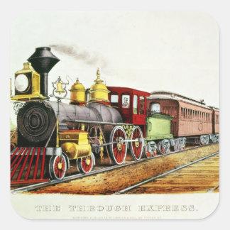 The Through Express Square Sticker