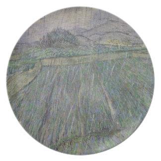 The Thunder Storm (oil on canvas) Dinner Plate