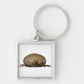 The Tick Silver-Colored Square Keychain