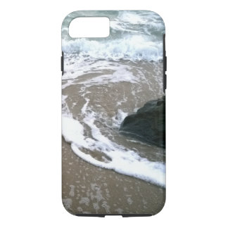 The Tide Washing Ashore Over the Rocks iPhone 7 Case