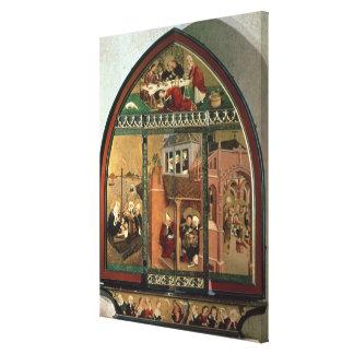 The Tiefenbronn Altarpiece (closed) 1432 (tempera Canvas Print