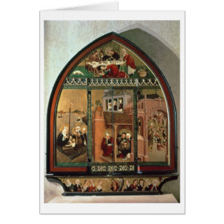 The Tiefenbronn Altarpiece (closed) 1432 (tempera Greeting Card