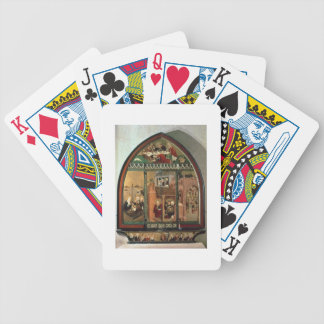 The Tiefenbronn Altarpiece (closed) 1432 (tempera Bicycle Playing Cards