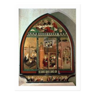 The Tiefenbronn Altarpiece (closed) 1432 (tempera Postcard