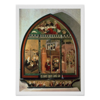The Tiefenbronn Altarpiece (closed) 1432 (tempera Poster