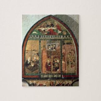 The Tiefenbronn Altarpiece (closed) 1432 (tempera Puzzle