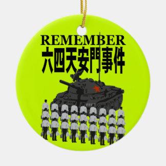The Tien An Men 2 Ceramic Ornament
