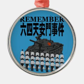 The Tien An Men 2 Metal Ornament