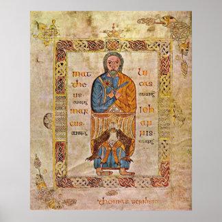 The Tier Gospels folio  The Tetramorph by Thomas Poster