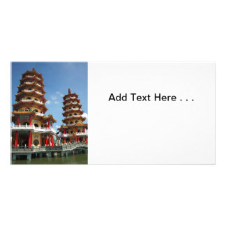 The Tiger and Dragon Pagodas in Kaohsiung Photo Card Template