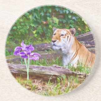 The Tiger and His Flower Coaster