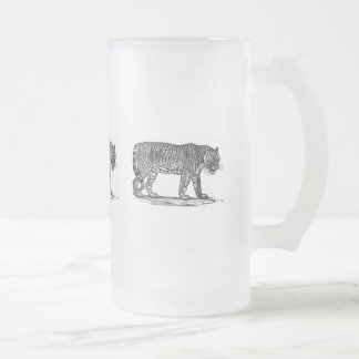 The Tiger Frosted Glass Beer Mug