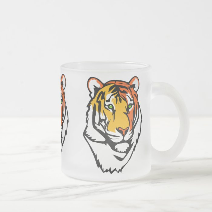 The Tiger Frosted Glass Coffee Mug