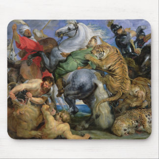 The Tiger Hunt, c.1616 Mouse Pad