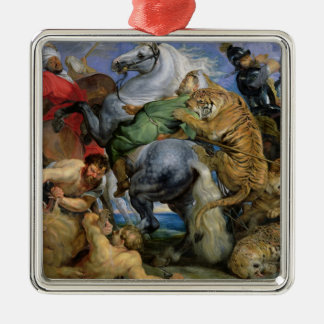 The Tiger Hunt, c.1616 Christmas Ornament