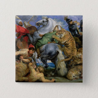 The Tiger Hunt, c.1616 Pinback Button