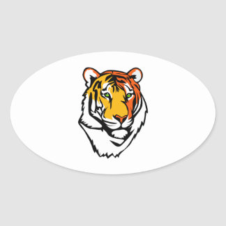 The Tiger Oval Sticker