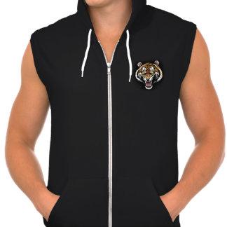 The Tiger Roar men's sleeveless Hoodie