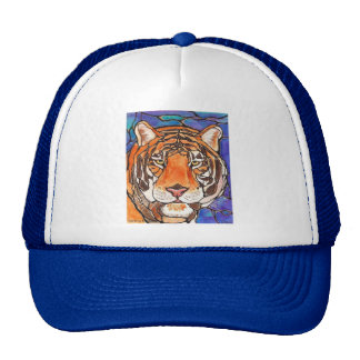 The Tiger Stained Glass/mosaic Art Many products!! Trucker Hat