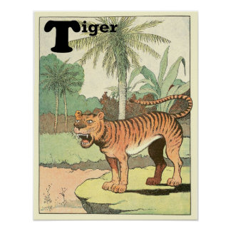 The Tiger Storybook Alphabet Poster