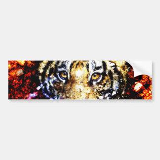 The tiger volcano bumper sticker